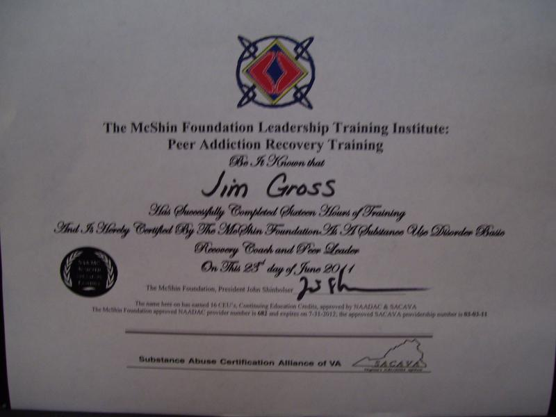 Certified Recovery Coach Jim Gross